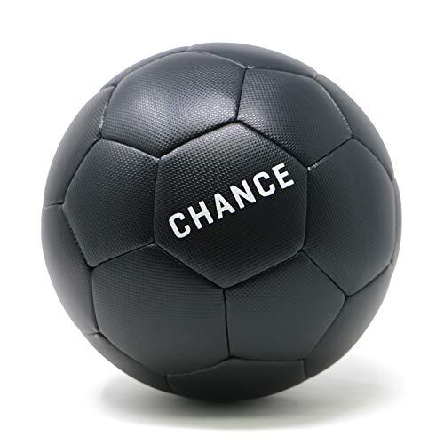 Chance Soccer Ball : Premium Outdoor/Indoor Soccer Ball (Size 4 Kids/Youth, Soccer Ball Size 5 Adult/PRO) (4, Black) -