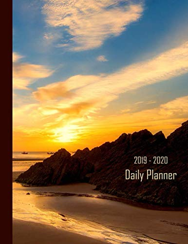 2019 - 2020 Daily Planner: Coastlines Sunset & Mountain Cover | January 19 - December 19 | Writing Notebook | Diary Journal | Datebook Calendar Schedule | Plan Days, Set ()