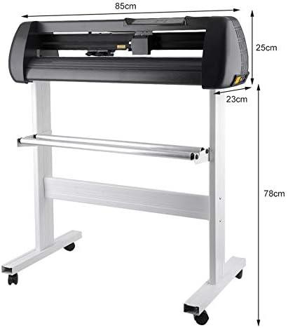 SK-720T Cutter Vinyl Cutter Plotter Sign Software de la máquina de corte con zócalo - Negro: Amazon.es: Hogar