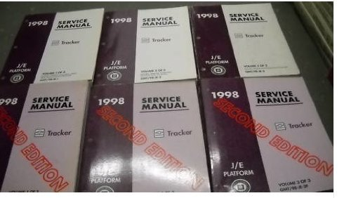 1998 Chevrolet Chevy Geo Tracker Service Manual Set Oem (rst edition, and second edition factory service manual 6volume set.)