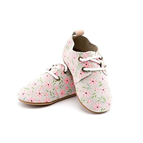 Piper Finn Genuine Leather Oxford Shoes - Baby Soft Sole + Toddler Hard Sole Flora