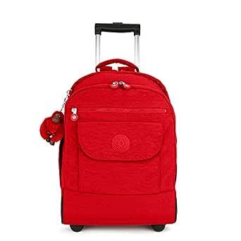 Kipling Sanaa Large Rolling, Adjustable, Padded Backpack Straps, Zip Closure, cherry tonal