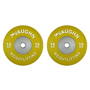 15 Kg Competition Bumper Plate Pairs by Vaughn Weightlifting / Olympic Weightlifting, CrossFit, & Other Strength Training