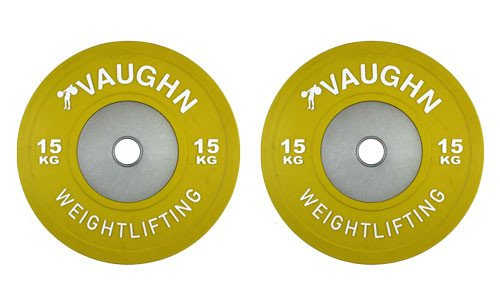 15 Kg Competition Bumper Plate Pairs by Vaughn Weightlifting / Olympic Weightlifting, CrossFit, & Other Strength Training by Vaughn Weightlifting