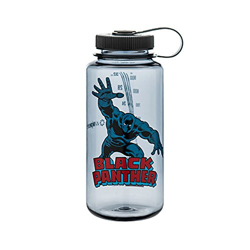 Nalgene Tritan Wide Mouth BPA-Free Water Bottle, 32 Oz, Black Panther in Action by Nalgene