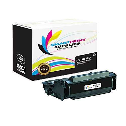 (Smart Print Supplies Compatible 12A7415 MICR Black High Yield Toner Cartridge Replacement for Lexmark T420 Printers (10,000 Pages))