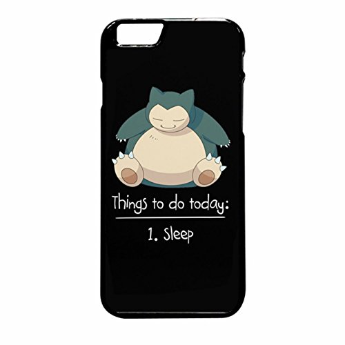 Pokemon Snorlax - Things To Do Today Sleep iPhone 6 Plus/6s Plus Case (Black Rubber)