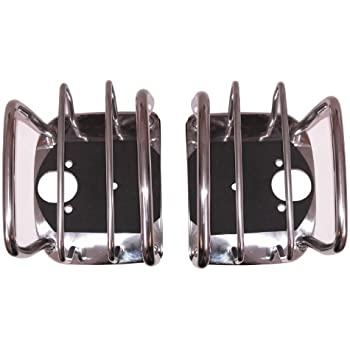 Pair Rugged Ridge 11103.01 Stainless Rear Euro Taillight Guard