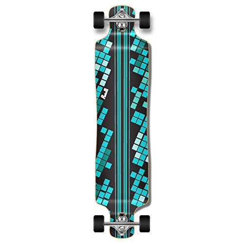 (Yocaher Graphic Series Complete Lowrider Skateboards Longboard w/Black Widow Premium 80A Grip Tape Aluminum Truck ABEC7 Bearing 70mm Skateboard Wheels (Complete - Lowrider - 04 - Digital Wave Black))
