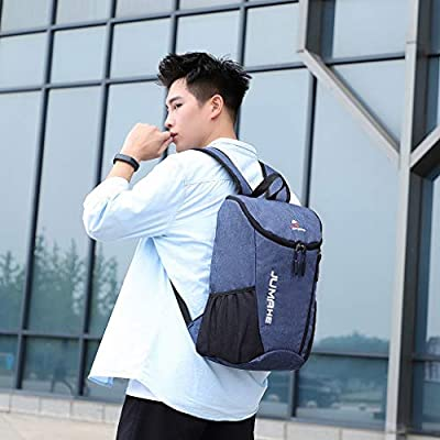 New Large Capacity Backpack, Unisex Casual Solid Color Backpack Waterproof School Bags Fashion Oxford Cloth Backpack: Clothing
