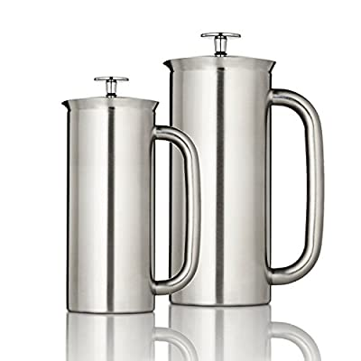 Espro Coffee Press P7-18 oz, Vacuum Insulated, Brushed Stainless Steel