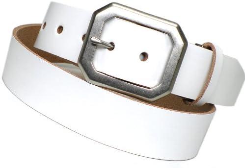 《UN CLUB》 メンズベルト革 メンズ レザー ベルト 日本製 白 SI-812 ホワイト