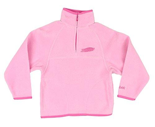 Anaheim Ducks NHL Little Girls 1/4 Zip Fleece Pullover Jacket - Pink (Medium (5/6))