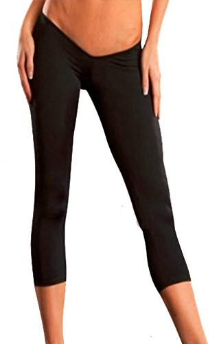 ise Cropped Pants Trousers Capris M Black (Womens Low Rise Cropped Pant)