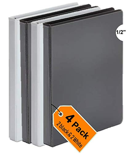 1InTheOffice 3 Ring Binder 1/2 inch, 1/2