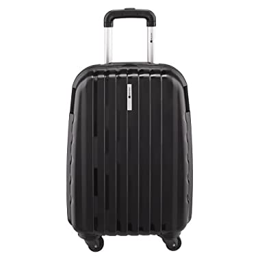 Delsey Luggage Helium Colours Lightweight Carry On Hardside 4 Wheel Spinner, Black, 21 Inch