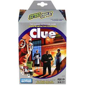 Games to Go! - Clue by Parker Brothers