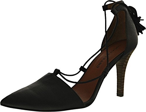 Lucky Brand Women's Sabreena Leather Black Ankle-High Leather Pump - 9.5M