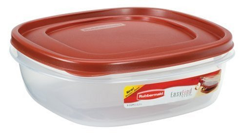 Rubbermaid 7J71 Easy Find Lid Square 9-Cup Food Storage 2 - Plates Number Shaped