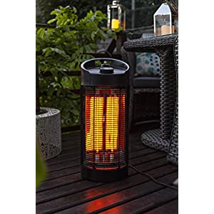 La Hacienda Black Series Nerva Under Table Revolving Heater Electric