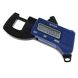 "UEETEK 0.5"" Mini Portable Digital Thickness Caliper Micrometer Thickness Gauge Measurement Tool (Blue)"