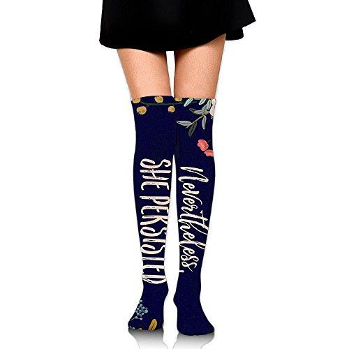 Nevertheless She Persisted Womens Long Over The Knee Thigh High Stockings Cosplay Socks Stocking White 2tkVpD