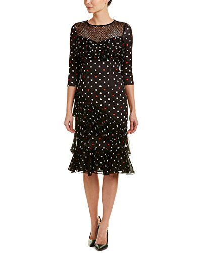 Teri Jon Womens Midi Dress, 4, Black