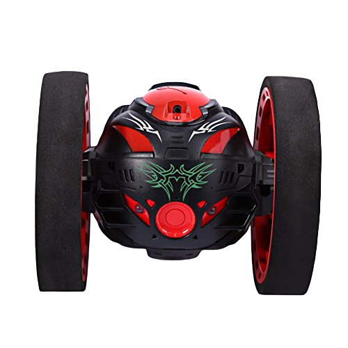 Qbaby 2 4G Wireless Remote Control Jumping Rc Toy Bounce Cars Robot Toys Flexible Wheels Rotation For Kids Boys And Girls