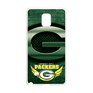 RAROFU Large Logo Green Bay Packers Custom Case for SamSung Galaxy Note4 (Laser Technology)
