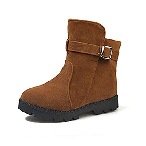 Coffee US5.5   EU36   UK3.5   CN35 Coffee US5.5   EU36   UK3.5   CN35 Women's Bootie Suede Fall & Winter Casual Boots Flat Heel Round Toe Booties Ankle Boots Black Coffee