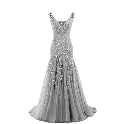 Silver Beaded Dress: Amazon.com
