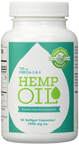 Manitoba-Harvest-Hemp-Oil-Soft-Gels-1000mg-60-Count-Pack-of-12