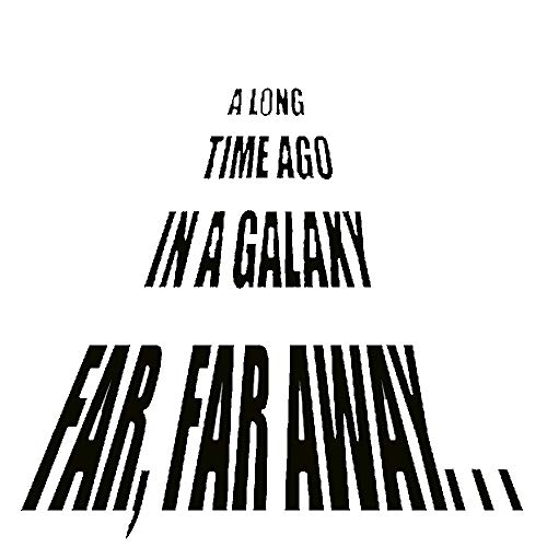 Logo Decal Away (A Long Time Ago in a Galaxy Far, Far Away-on Sale Star Wars Themed Vinyl Wall Decals (22x22, black))