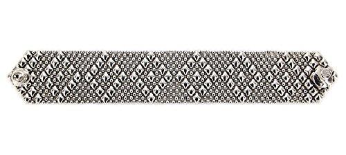 Bracelet Argent Antique b9-as SG Métal liquide par Sergio Gutierrez-3tailles-SG Étui & Chiffon de nettoyage inclus