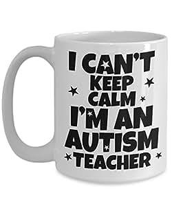 Autism Teacher Gifts for Teacher Coffee Mug I Can't Keep Calm