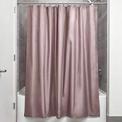 InterDesign Mildew-Free Water-Repellent Fabric Shower Curtain, 54-Inch by 78-Inch, Black