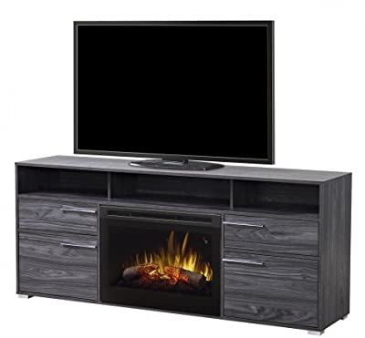 "Dimplex Sander 25"" Fireplace TV Stand in Carbonized Walnut"