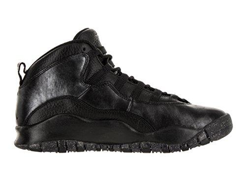 Nike Air Jordan 10 Retro Grote Kinderen Stijl Zwart / Zwart / Drk Grijs / Mtllc Gld