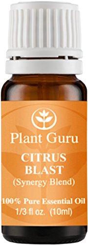 Citrus Blast Synergy Essential Oil Blend 10 ml. 100% Pure, Undiluted, Therapeutic Grade. (Blend Of: Sweet Orange, Lemon, Tangerine, Bergamot, Mandarin, Clementine, Vanilla).