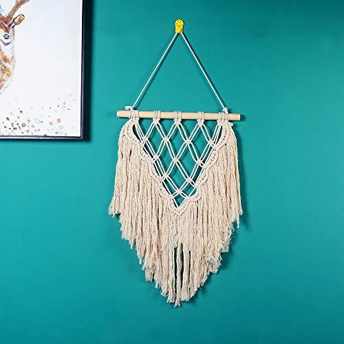 (Macrame Wall Hanging Tapestry - Woven Tapestry Wall Decor, Boho Geometric Art Home Decor (Ivory))