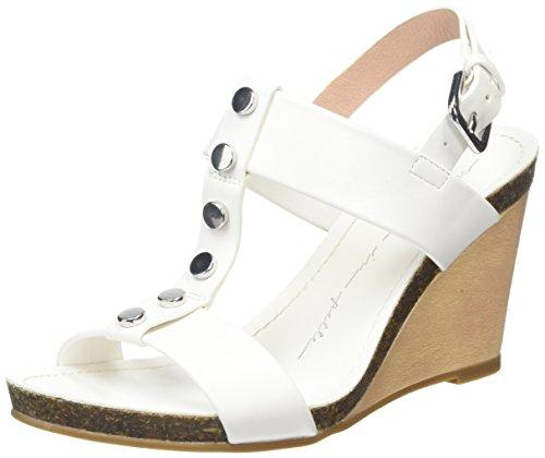 Moda in Pelle Parola - Sandalias con cuña Mujer Blanco - blanco