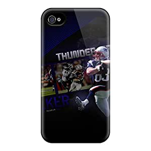 Premium Durable Wes Welker Patriots Player Fashion Tpu Iphone 4/4s Protective Case Cover