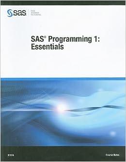 Book SAS Programming 1: Essentials Course Notes
