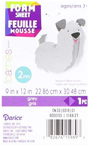 """Foam Sheet 9""""X12"""" 2mm-Grey"""