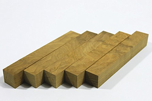 (5 unidades) Craftwood Golden Phoebe al torneado de madera blanco de madera bolí grafos bloque 20 mm x 20 mm x 127 mm Xliji