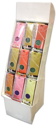 144-Count Incense Display {144 Pieces} , Display Holds A Total Of 144 Incense Packages With Scents Including Wildflower, Jasmine, Strawberry, Sandalwood, Violet, Vanilla And Rose. 16 Packs Of Each - Violet Strawberry
