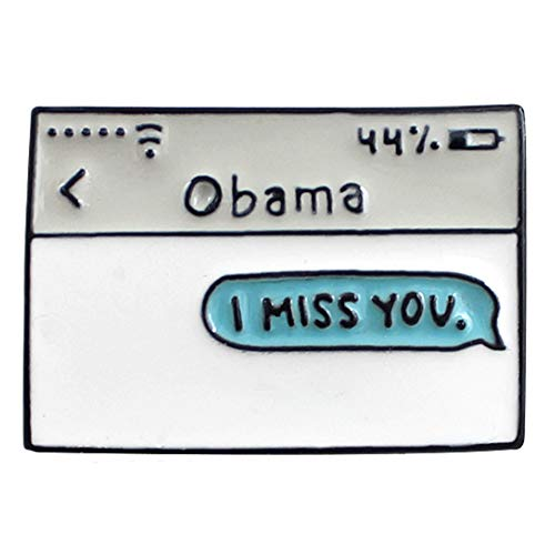 Flairs New York Premium Handmade Enamel Lapel Pin Brooch Badge ([Trump] Obama I Miss You, 1 Pin)