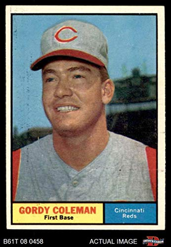 1961 Topps # 194 Gordy Coleman Cincinnati Reds (Baseball Card) Dean's Cards 5 - EX Reds