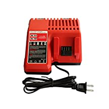 GERIT Replacement M18 Lithium-ion Battery Charger for Milwaukee M18 Combo Charger for 48-11-1815