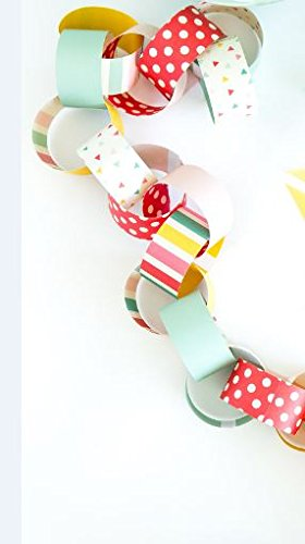 My Mind's Eye Colorful Hooray Paper Chain Party Decoration